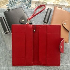 LODIS genuine leather phone wallet + USB charger